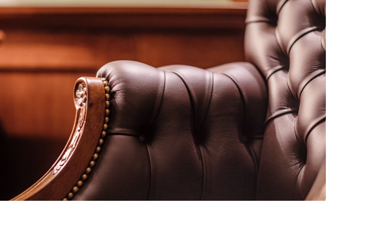 Luxury leather brown chair