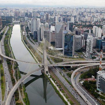 Vista de Sao Paulo, Brasil.