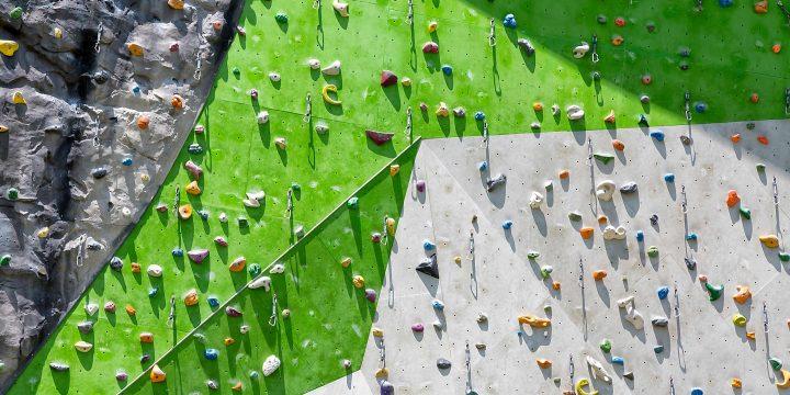Image of rock climbing wall