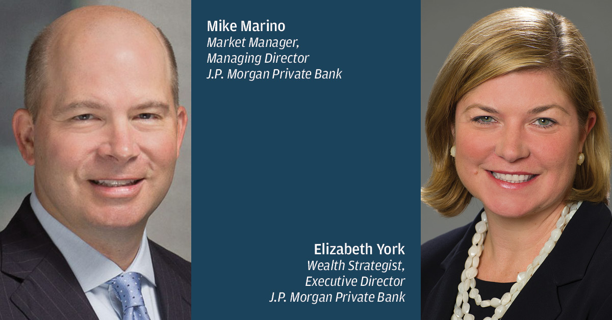 Composite image of Mike Marino and Elizabeth York